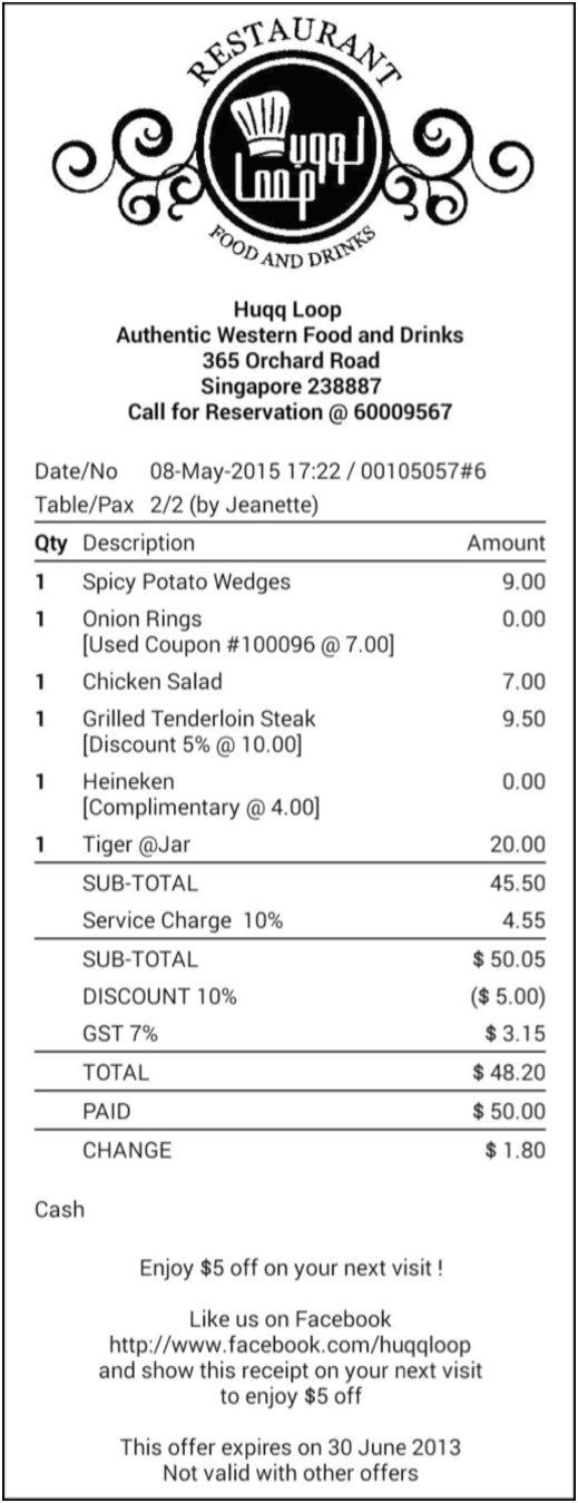how to make the most out of receipt for higher sales foodzaps